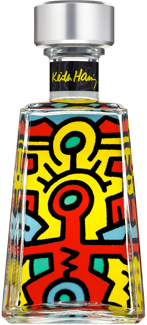 """Die """"Essential Artists""""-Edition der Agavenbrand-Marke 1800 Tequila zeigt seit 2008 Sonderflaschen von unterschiedlichen Künstlern. Die 2015er Serie ist Werken von Keith Haring gewidmet #keithharing #artdrinks"""