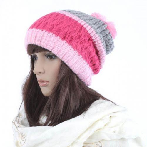 Multi Color Knit Design Sweet Hat