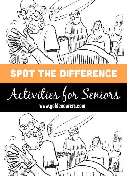 This is a picture of Adaptable Printable Spot the Difference for Elderly