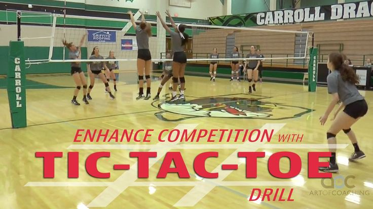 Be creative. Use a tic tac toe game as a new way to score in competitive drills!
