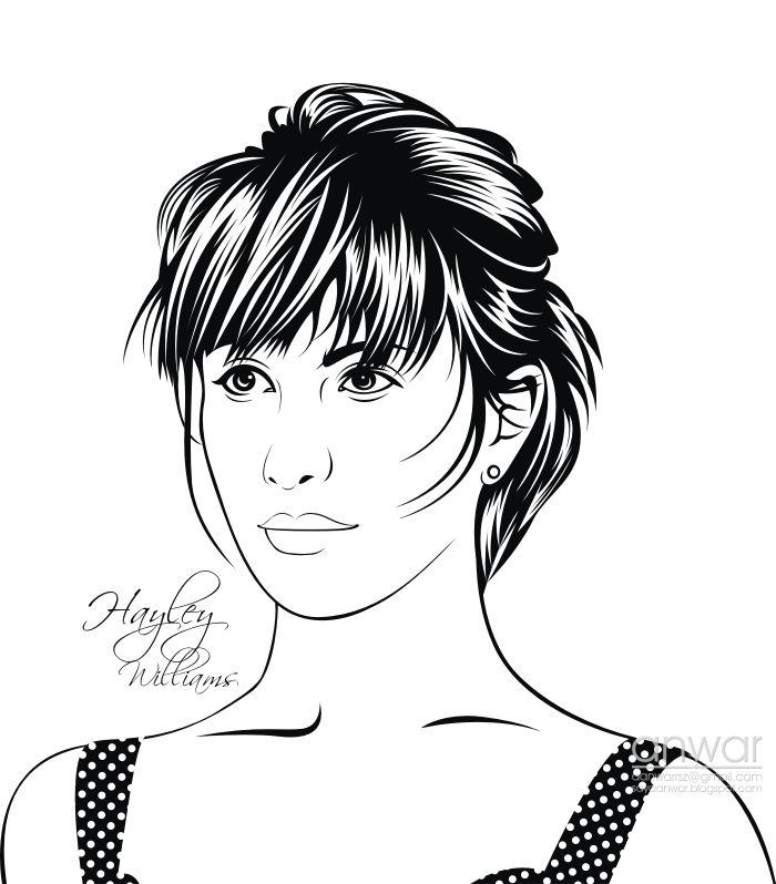 Line Art Wajah : Hayley williams paramore line art vector by anwarsz
