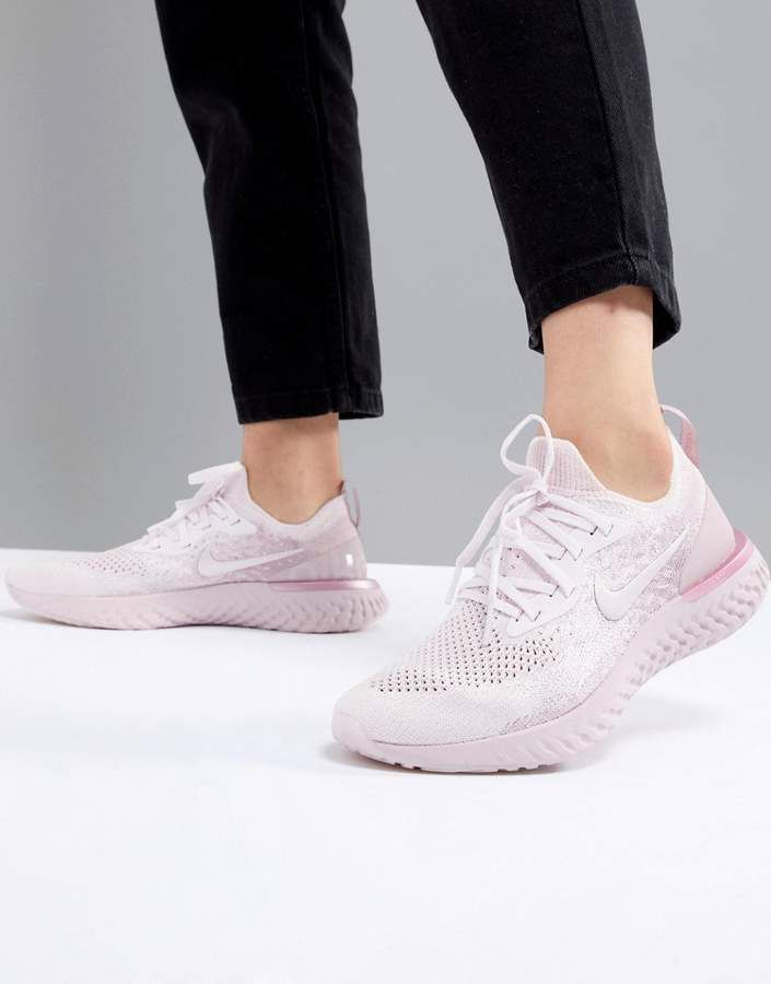 Nike Running Epic React Trainers In Pink Matcha  a14f55271