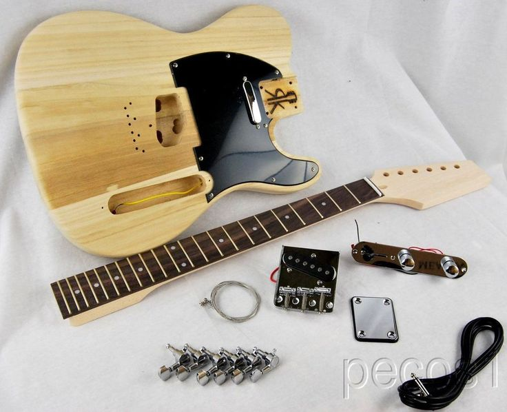 Lightweight SWAMP ASH DIY TELE STYLE ELECTRIC GUITAR KIT-TOP QUALITY WOODS