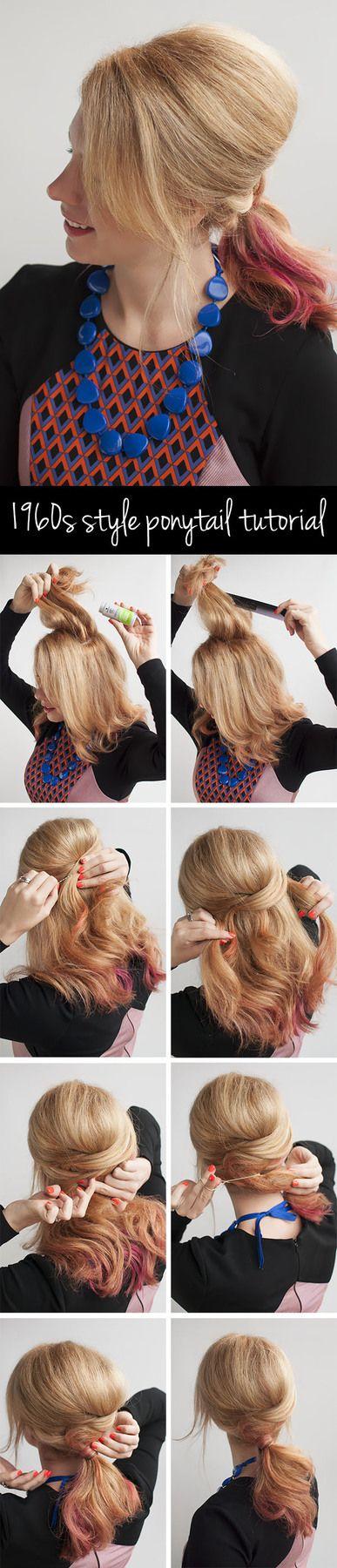 1960s style ponytail hair tutorial   Hair Romance