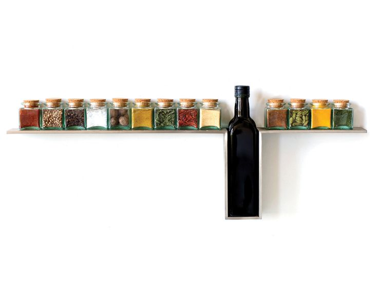 1 Line Spice Rack | Constructed From 1/4 Inch Thick Brushed Stainless Steel