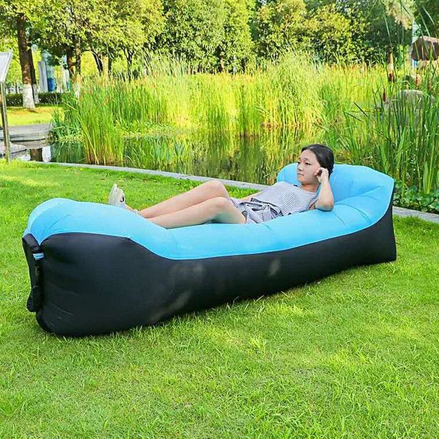 Fast Inflatable Sofa Air Lounger Bed Outdoor Sleeping Bags Lazy