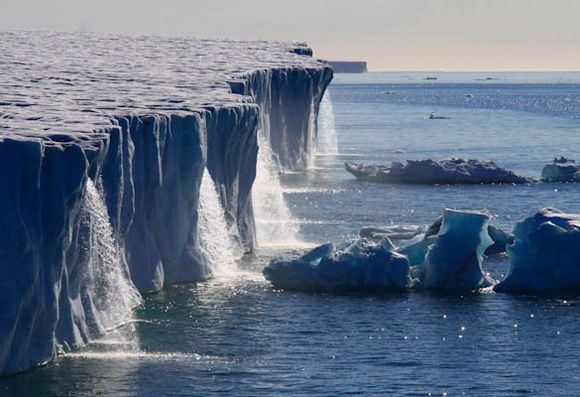 Glacier waterfalls in Svalbard, Norway.  Definetely on my Travel Bucket List! THE WORLD GEOGRAPHY: 11 Magnificent Wonders of the Ice World