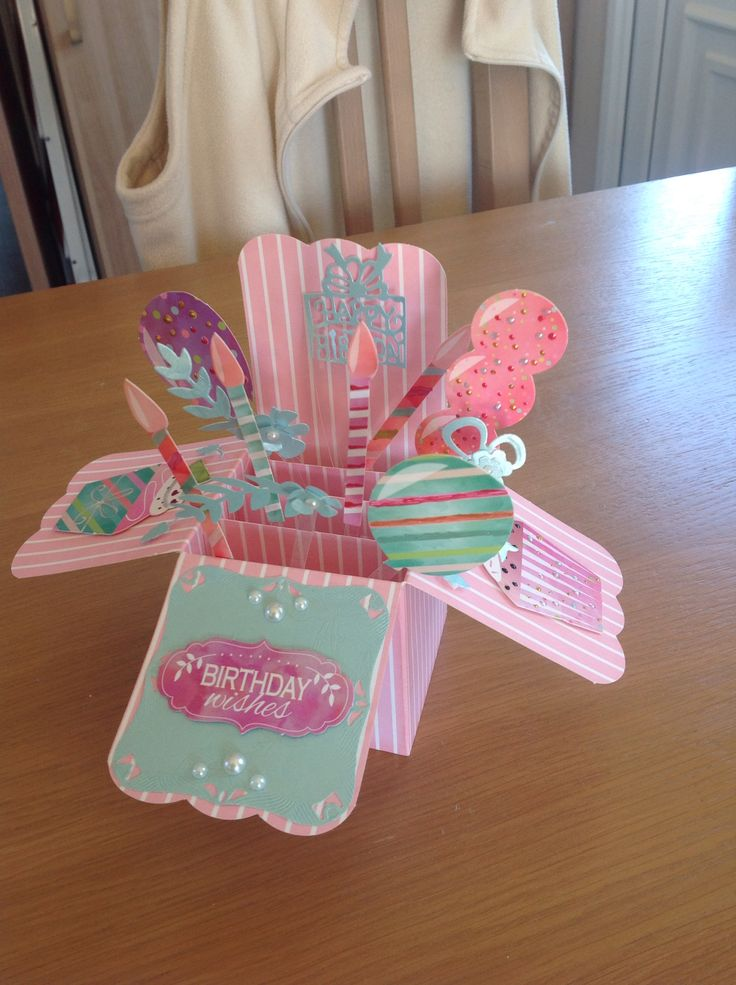 Pop up box birthday card