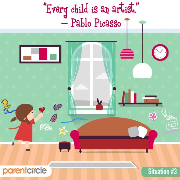 Children Don't Come With Instructions.   Artists begin with painting on the walls of their homes as children :).   Parenting can seem one herculean task but it could become simpler when you have someone to guide you through the journey. Visit https://www.parentcircle.com/ and learn from fellow parents of how to approach and deal with day-to-day issues of bringing up your little tots.
