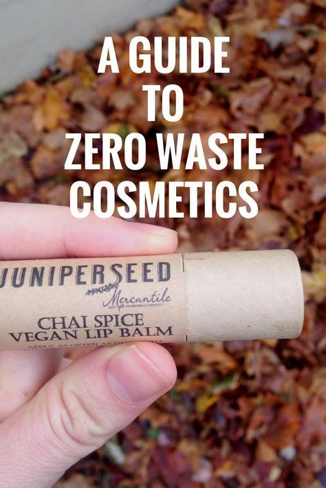 You don't have to give up cosmetics in order to take care of the environment…
