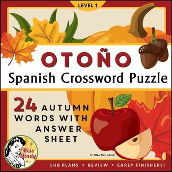 1000+ images about Spanish Crossword Puzzles on Pinterest