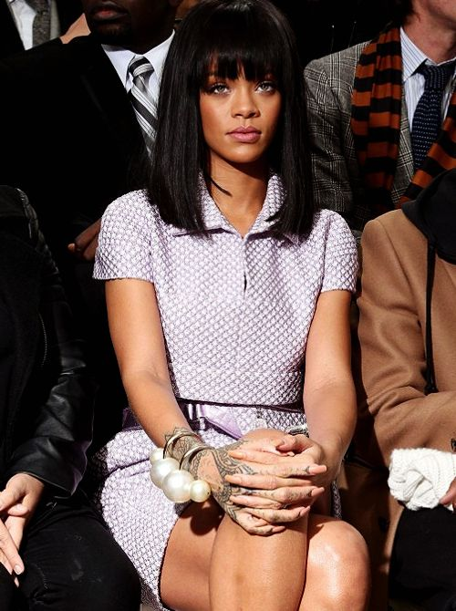 Rihanna front row at Chanel A/W 2014  | Women's Hair Closet in Royal Oak, MI, is an upscale private hair boutique for women to come in and shop to find their perfect hair pieces!  For more information call (248) 439-0683 or visit www.womenshaircloset.net!