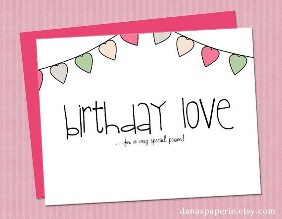 Cute Birthday Card For Niece Or Little Girl Hand Drawn Greeting