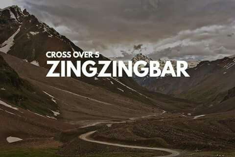 Zingzingbar is a road building camp and tea house situated 18 km from Bara-lacha-la on the Manali to Leh road in the Lahaul and Spiti district of Himachal Pradesh. It lies at an altitude of around 4,270 m.