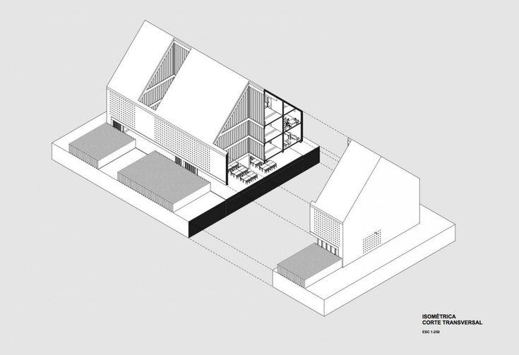 School Farm, Felipe Grallert Architects. isometric
