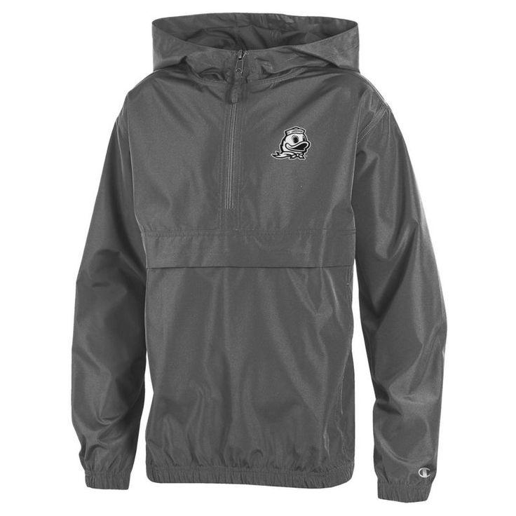 Oregon Ducks Champion Youth Pack & Go Quarter-Zip Windbreaker Jacket - Graphite