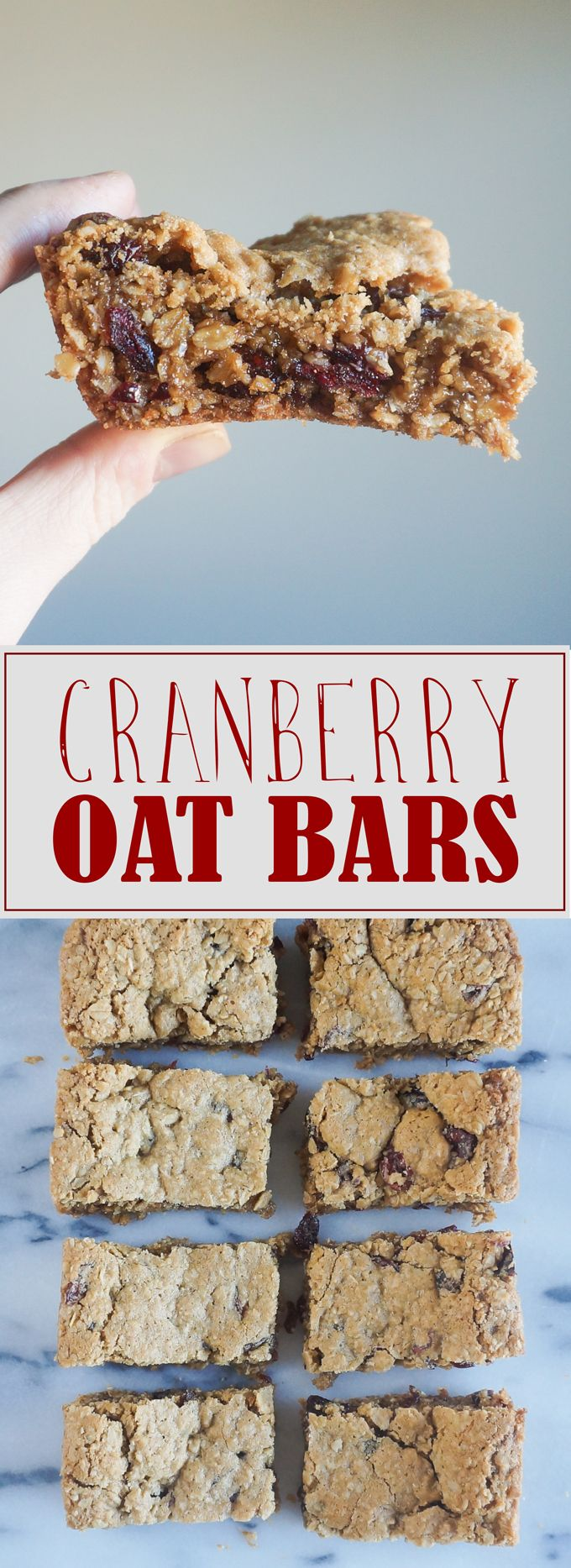 To-Die-For Cranberry Oat Bars. Soft, chewy, and so addictive!