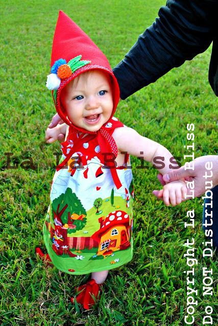 Gnome Dress For A Little Munchkin Yes My Child Will Wear This Pinterest Gardens Garden