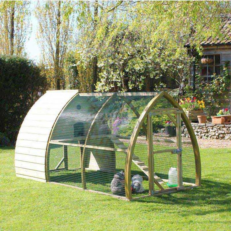 The Salisbury Chicken Coop is a beautifully shaped chicken house and run with an arching timber design, suitable for 4 - 6 medium sized hens. NEW DESIGN FOR 2017 - SPECIAL INTRODUCTORY PRICE OF £599.00 It is a practical and easy-to-clean hen house, which is a pleasure to use and to look at. It has been designed and made in our Dorset workshop using only top quality pressure treated timbers from slow-grown Scandinavian Redwood. The Salisbury Chicken Coop has a number of great features…