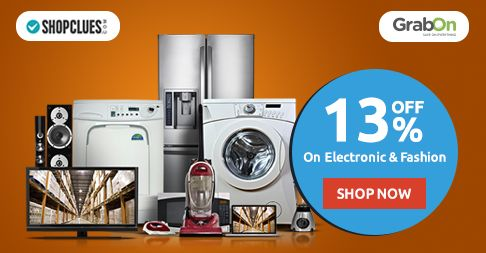 Grab Extra Discounts At #Shopclues. Get 13% Off On Electronics & Fashion. http://www.grabon.in/shopclues-coupons/ … #SaveOnGrabOn
