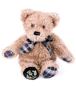 In 2010 the National Trust for Scotland had a new tartan custom made by Johnstons of Elgin in Scotland. Tartan is a traditional product of Scotland, and this charming teddy bear, unique to the Trust, is made from that tartan.Soft and cuddly he has all the classic good looks of a traditional teddy bear. A must for any collector. 27cm x 27cm  £9.95