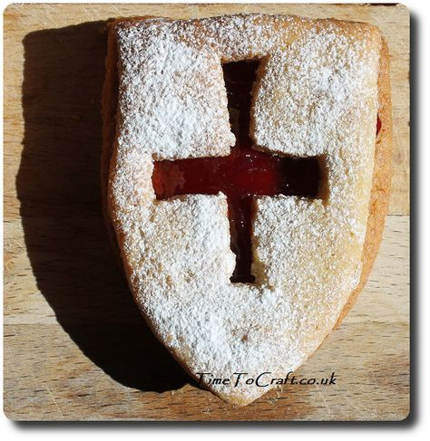 Jammy Dodger St George Day biscuit
