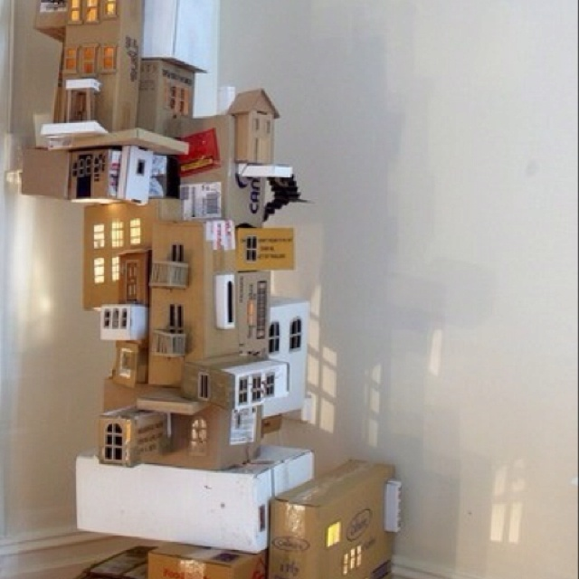 Save all your delivery boxes and build a sculpture / play thing for your kids