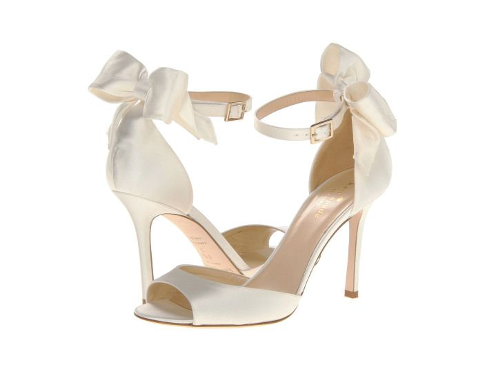 Kate Spade New York Izzie Ivory Satin - Zappos Couture. Nice if there are  bow details.