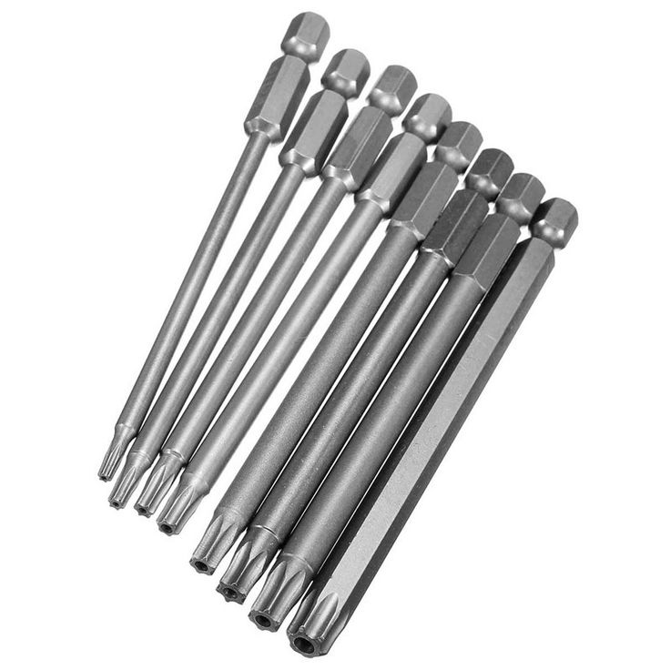 Doersupp 8Pcs 8 Sizes Electric 100mm Long 1/4 Inch Hex Shank Magnetic Torx Screwdriver Bits Set T8 T10 T15 T20 T25 T27 T30 T40 - ICON2 Luxury Designer Fixures  Doersupp #8Pcs #8 #Sizes #Electric #100mm #Long #1/4 #Inch #Hex #Shank #Magnetic #Torx #Screwdriver #Bits #Set #T8 #T10 #T15 #T20 #T25 #T27 #T30 #T40