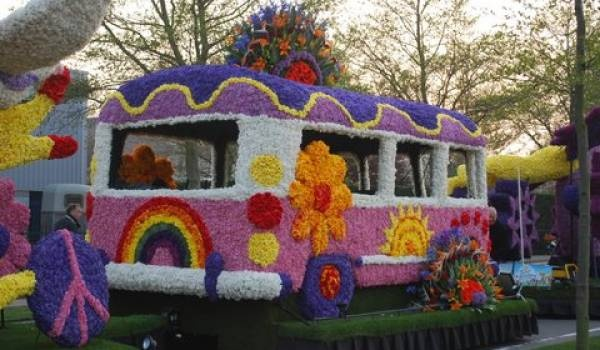 Keukenhof, Holland, Flower Parade.  25 floats covered tip to tail with flowers.