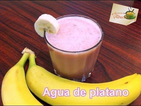 Rica agua de plátano (banana) - La receta de la abuelita - YouTube
