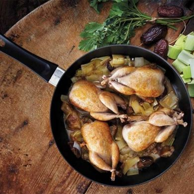 Quail Braised with Leeks and Dates -- Improve the flavor for any meal ...