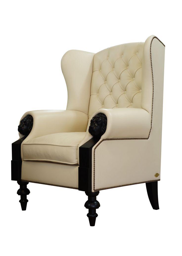 Белое кожаное кресло