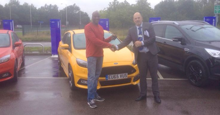 We welcomed back Gus Lord for the third time as he collected the keys for his new #65Plate Ford Focus ST-3 from our Paul.