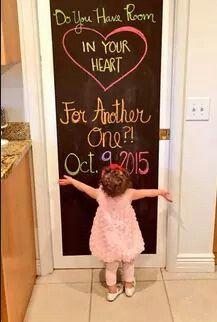 Cute 2nd pregnancy announcement