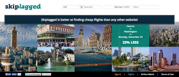 Skiplagged | 16 Useful Travel Websites You Probably Didn't Know About