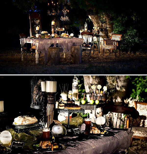 Halloween Dinner Party Ideas For Adults Part - 37: Deathly Hallows Themed Halloween Party Staged By Loralee Lewis.