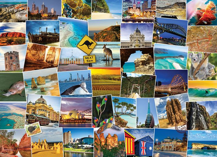 Globetrotter Australia 1000 pieces. Take a trip to the land down under!  Explore the various attractions and landmarks of one of the most beautiful places on earth.
