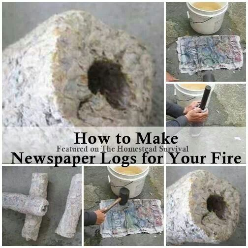 how to make newspaper logs for fireplace