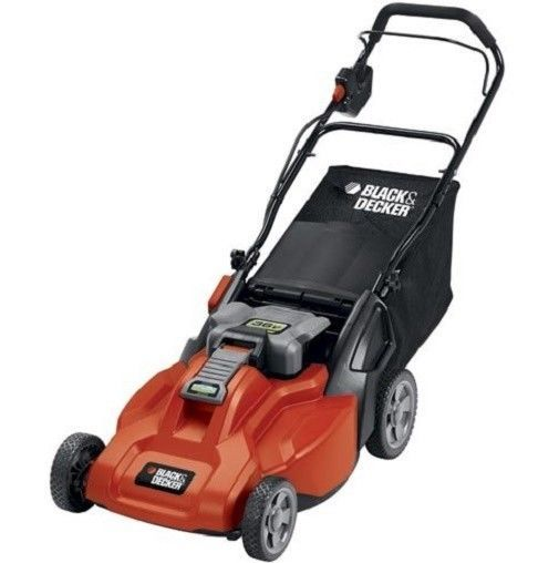 Lawn Mower Electric Cordless 36 Volt Rechargeable Lawn Mower Black and Decker #BlackDecker