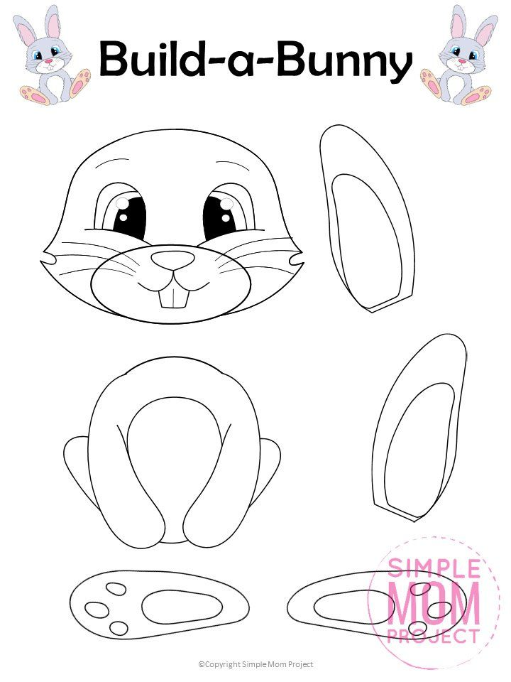 Looking For An Easy Easter Bunny Craft To Do With Your Kids This Easter Use Our Free Pr Bunny Coloring Pages Easter Bunny Colouring Kindergarten Easter Crafts