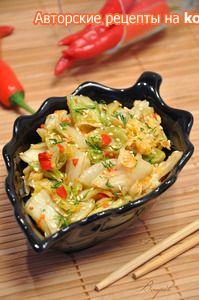 Фото к рецепту: Кимчи (острая корейская капуста)