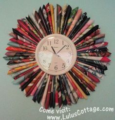 Recycled+Magazine+Crafts | Recycled Magazine Clock — craftbits.com