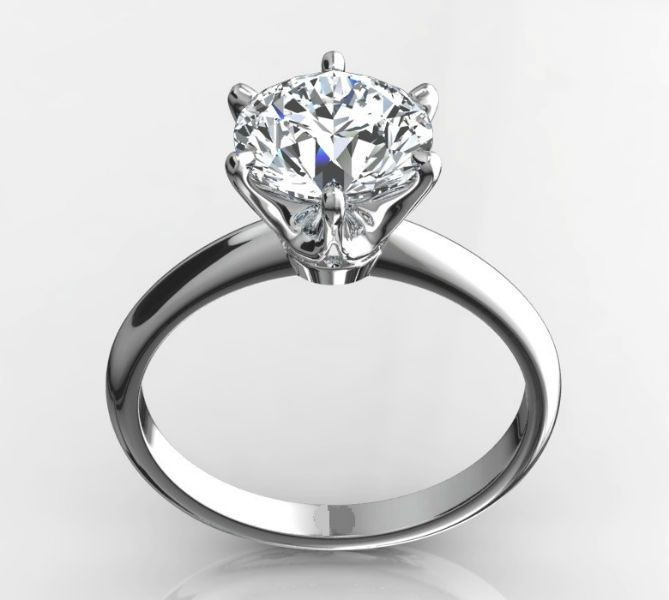 BRIDAL AMAZING 1.5 CT D VS1 ROUND CUT DIAMOND SOLITAIRE RING 14K WHITE GOLD