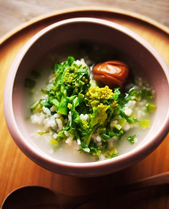 What I ate this morning: 2014/02/27 rape blossom risotto