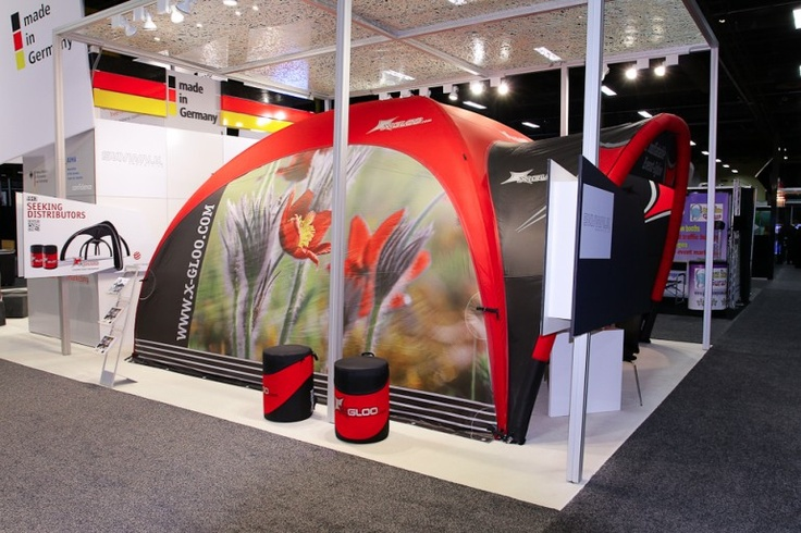 Las Vegas Trade Show | X-GLOO 6x6 with Side Wall and Canopy. X-Relax seating also shown.