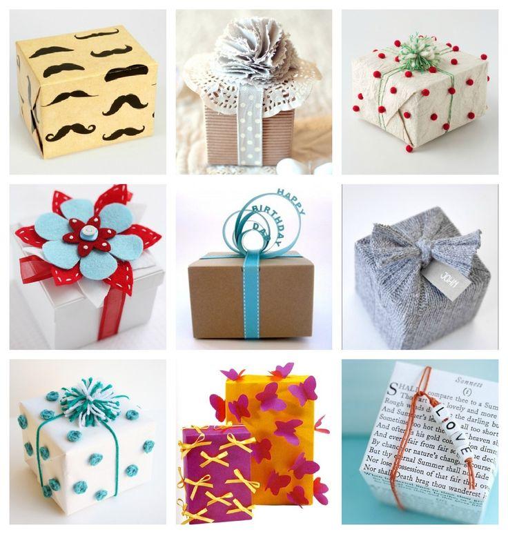 Onderzoek heeft uitgewezen dat mensen een cadeautje nóg leuker vinden als ze enthousiast zijn over de cadeauverpakking! Kies dus voor grappig, mooi of origineel cadeaupapier en ga aan de slag met linten, strikken en andere versiersels! Hier alvast wat ideeën om inspiratie op te doen. Succes!