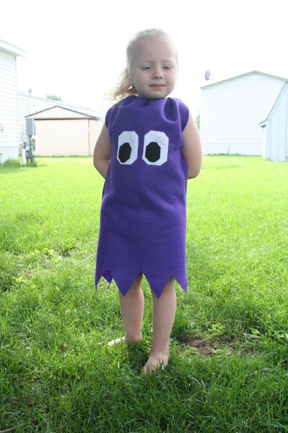 Childrens Pacman Ghost costume Custom size by boobercakes, $33.00