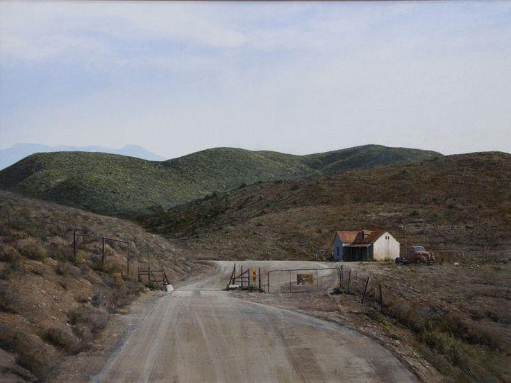 "peter Bonney South African Karroo Landscape artist image title ""In The Swartberg"""