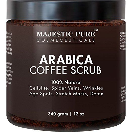 Arabica Coffee Scrub From Majestic Pure Helps Reduce Cellulite, Wrinkles 12 Oz #Unbranded